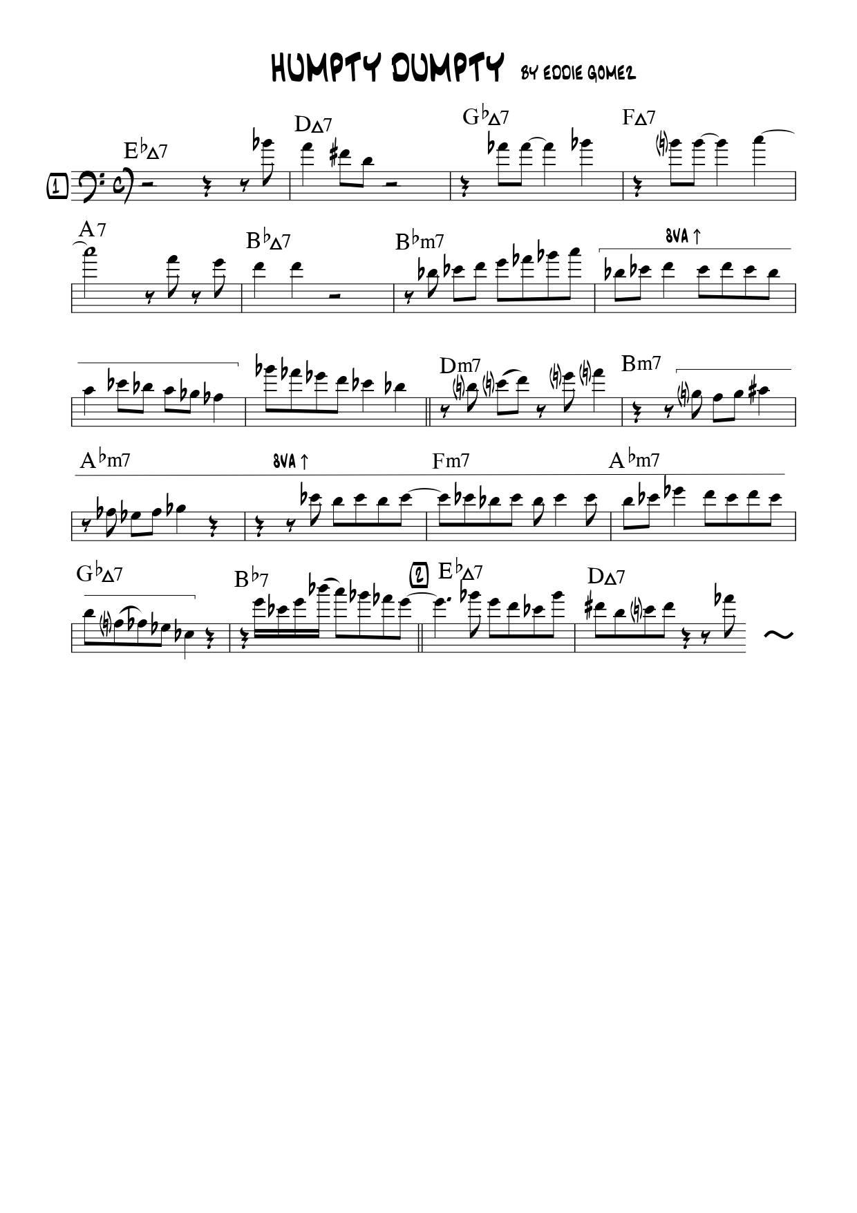 【オンラインサロン】こんな曲をコピーしました!「Humpty Dumpty」エディ・ゴメス