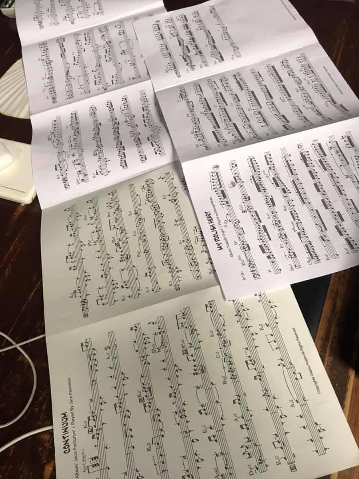 ジャコ・パストリアスの「Cuntinuum」の採譜および清書化が完成!